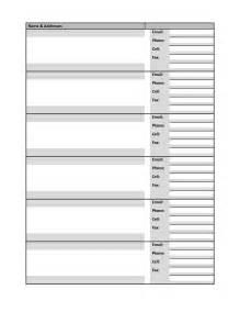 Address book template search results new calendar template site