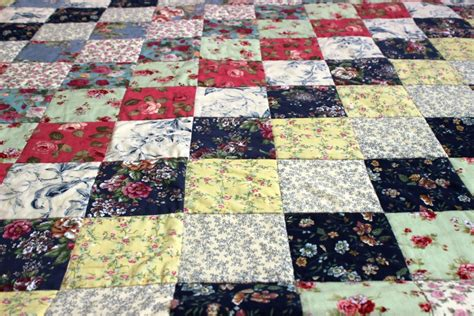 Vintage Floral Quilts by Vintage Floral Quilt Top Uk Coralie Green