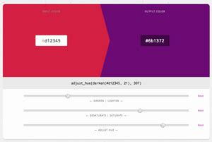 sass color functions web design development news collective 46