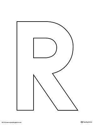 uppercase letter template printable lettering alphabet