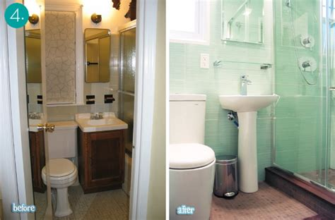tiny bathroom makeover eye candy 10 big impact small bath makeovers 187 curbly