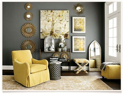 Grey In Home Decor Passing Yellow And Gray Living Rooms Bibliafull