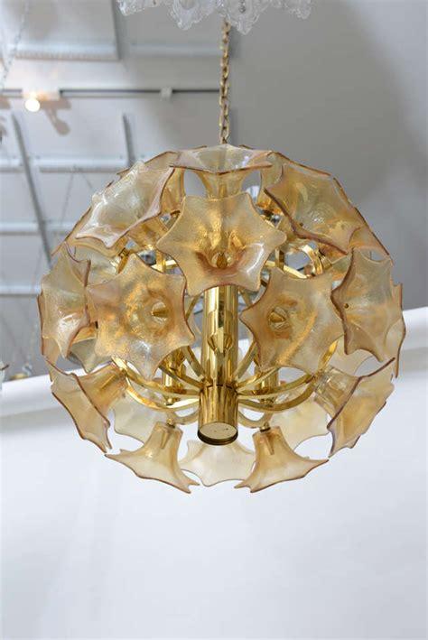 Flower Light Fixture European Glass Flower Sputnik Light Fixture At 1stdibs