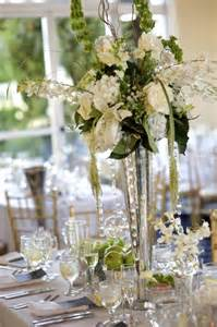 beautiful trumpet vase centerpiece wedding 2014