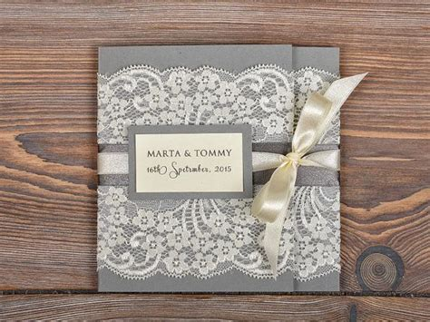 Wedding Invitations With Lace by Beautiful Lace Wedding Invitations With Pocket Sang Maestro