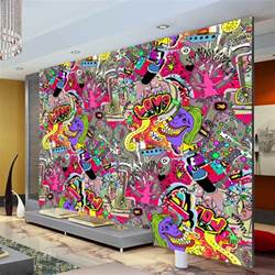 aliexpress com buy graffiti boys urban art wallpaper 3d art wall photo