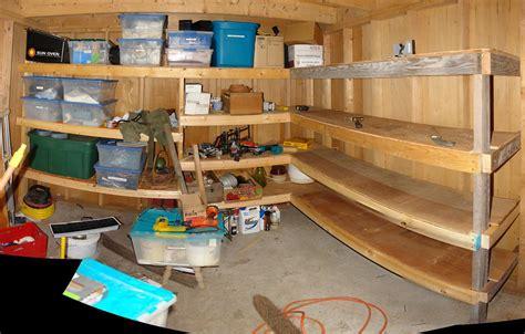 shedshelves pano  storage shelves  built