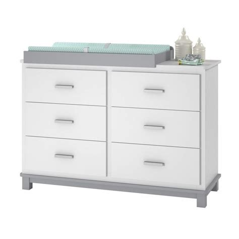 Childrens Bedroom Dressers 6 Drawer Dresser With Changing Table Nursery Bedroom Furniture White Ebay