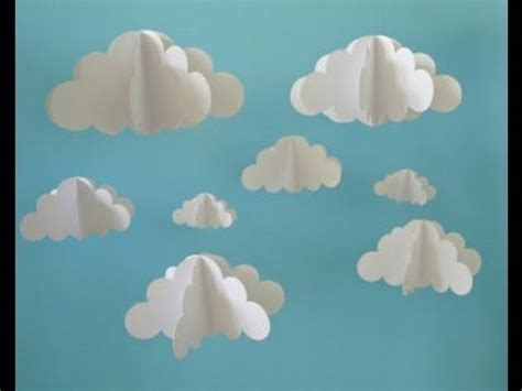 How To Make 3d Clouds Out Of Paper - 3d cloud diy using