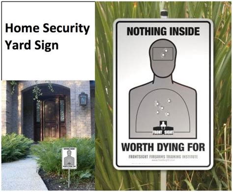 home security yard sign fellowship of the minds