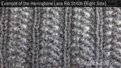 yfrn knitting the herringbone lace rib stitch knitting stitch 207