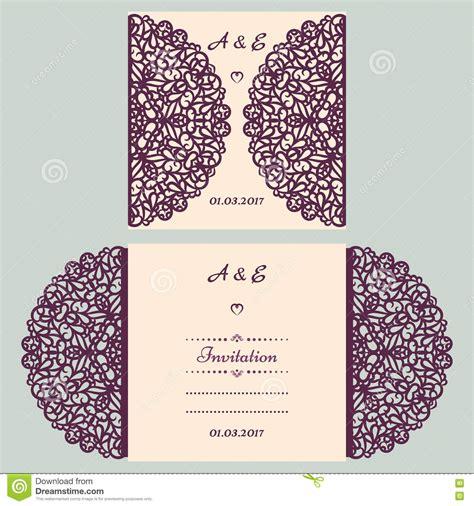 Card Template Cutout by Die Cut Wedding Invitation Card Template Paper Cut Out
