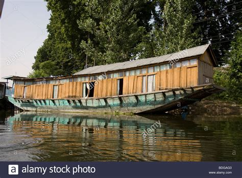 boat house kashmir india kashmir srinagar house boat dal lake jhelum river stock photo royalty free image