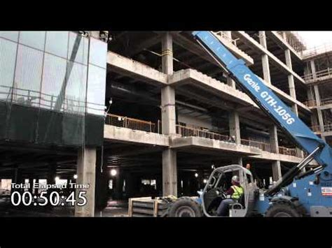 harmon curtain wall harmon inc unitized curtain wall installation youtube