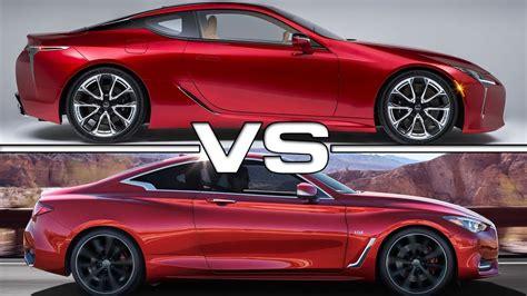 lexus lc 500 vs infiniti q60 coupe