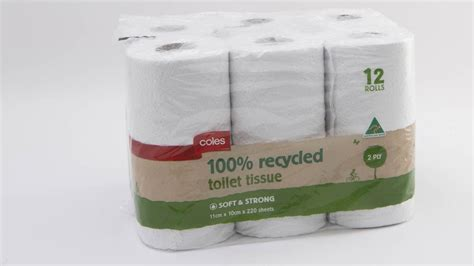 How To Make Toilet Paper From Recycled Paper - coles 100 recycled toilet tissue soft and strong 2 ply