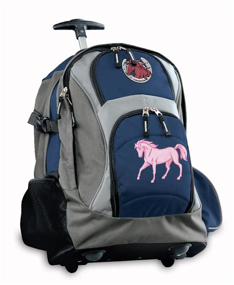 pink rolling backpacks with wheels best horses