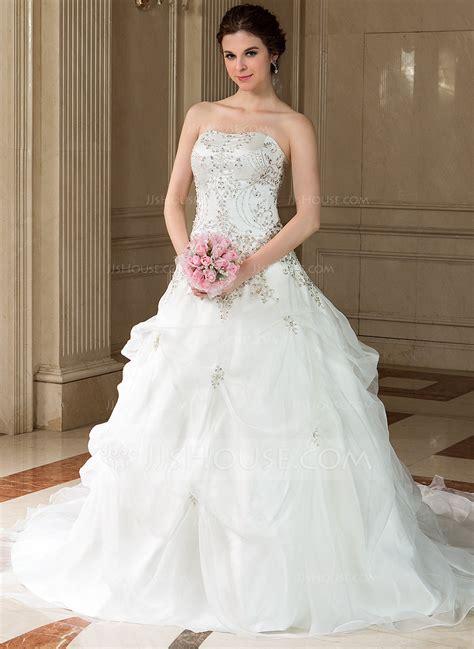 Wedding Dress Jjshouse by Gown Sweetheart Chapel Satin Organza Wedding