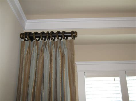Short curtain rods side panels
