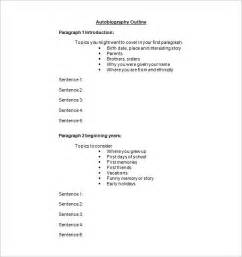 biography outline template autobiography outline template 17 free word pdf