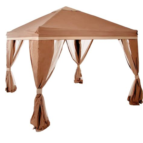 pacific casual gazebo pacific casual 10 x 10 ft portable gazebo canopies