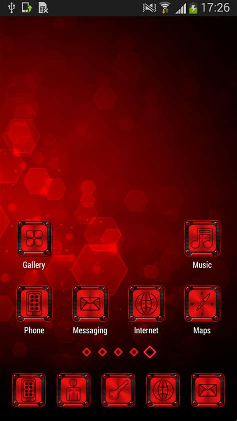 themes for android red red and black launcher theme free android theme download