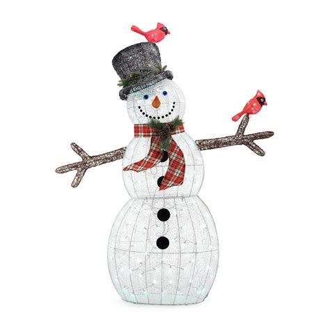 lighted snowman for outside home accents holiday 72 in christmas led acrylic snowman
