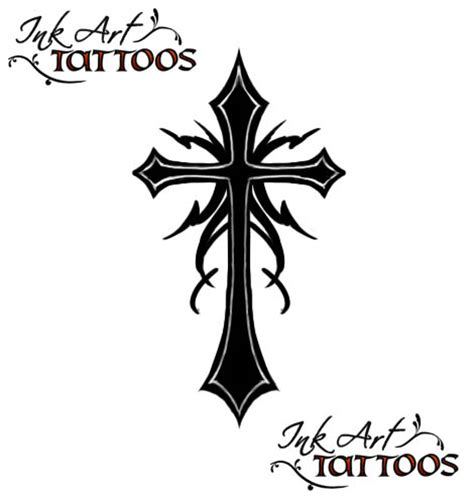 cross tattoo flash design christian cross designs