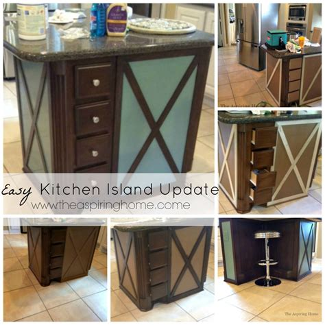 easy kitchen island easy kitchen island makeover the aspiring home