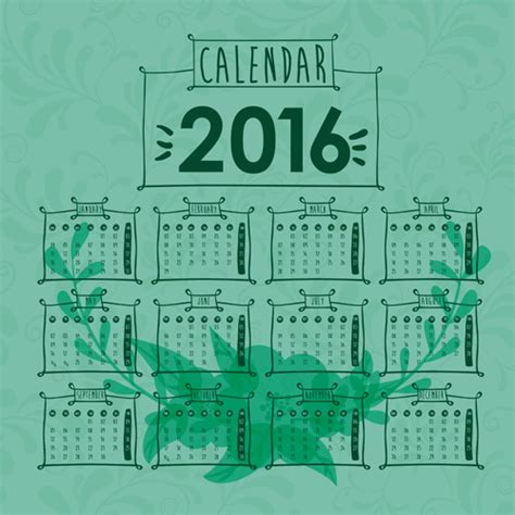 design calendar simple simple wall calendar 2016 design vectors set 19 vector