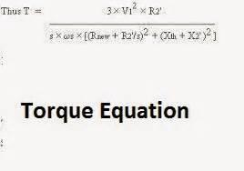 induction generator torque equation electrical standards delta starter changing direction of motor