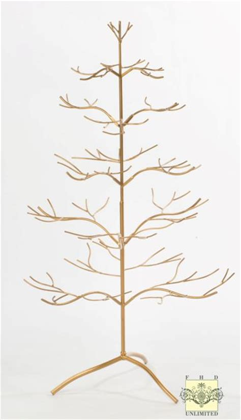 ornament display tree silver or gold natural 36
