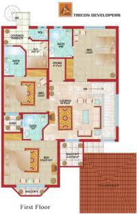 Floor Plans For 1 Story Homes floor plan tricon village