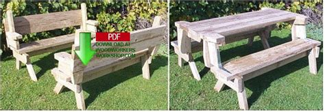 folding picnic bench seat combination download foldable picnic bench plans free