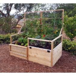 10 Ft Garden Trellis Rectangular Raised Garden With Trellis Lid Kit Wayfair