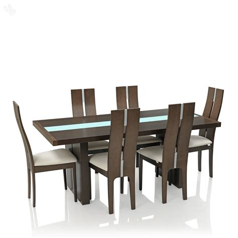 Dining Table And Chair Set Buy Royaloak Daffodil Dining Set With Six Chairs Solid Wood Modern From India S Most