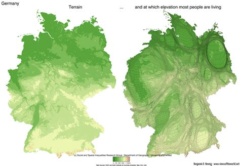 germany topographic map germany s topography views of the world