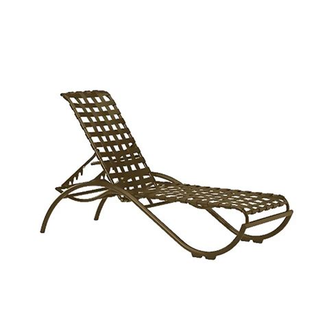 la scala crossweave strap chaise lounge  aluminum frame furniture leisure