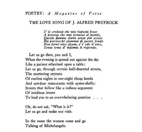 in the room the come and go talking of t s eliot in the room come and go talking of michelangelo language poem