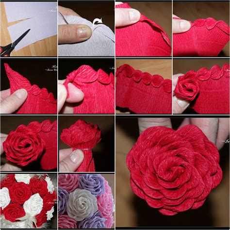easy unique to make a rose paper flower tutorial youtube how to diy unique crepe paper rose