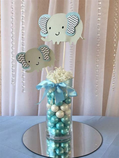 boy baby shower elephant theme party decor pinterest light blue elephant centerpieces stick elephant baby