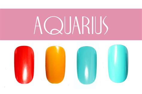 aquarius colors pictures nail color by zodiac sign aquarius nail colors