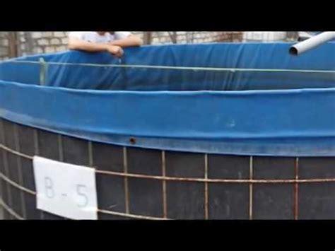 Kolam Terpal Bulat D1 T 12 konstruksi kolam terpal bulat untuk budidaya ikan lele