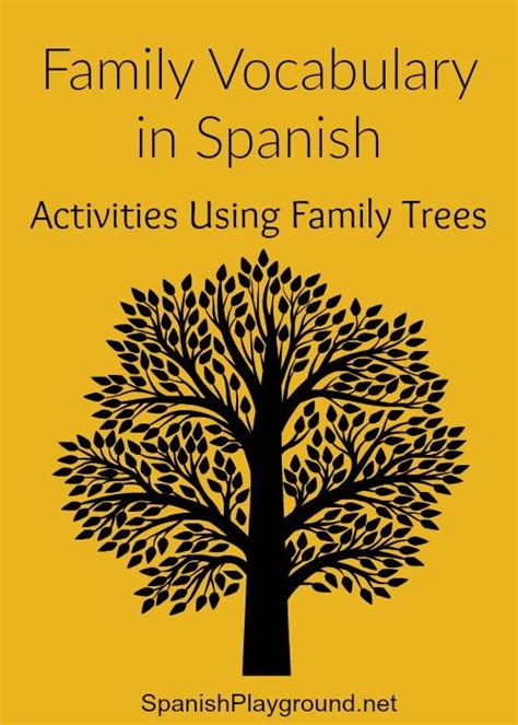 printable family tree in spanish 1000 images about spanish for kids on pinterest spanish