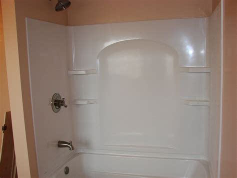 bathtub surrounds installation bathroom overhaul incl tub vanity toilet defiance
