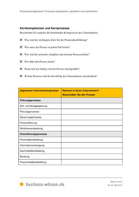 Word Vorlage Handbuch Prozesse Analysieren Gestalten Und Optimieren Business Wissen De