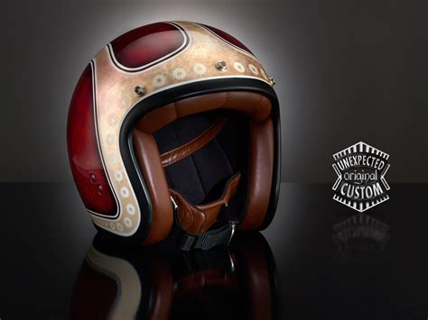 vintage motocross helmets custom painted vintage helmets by unexpected customs