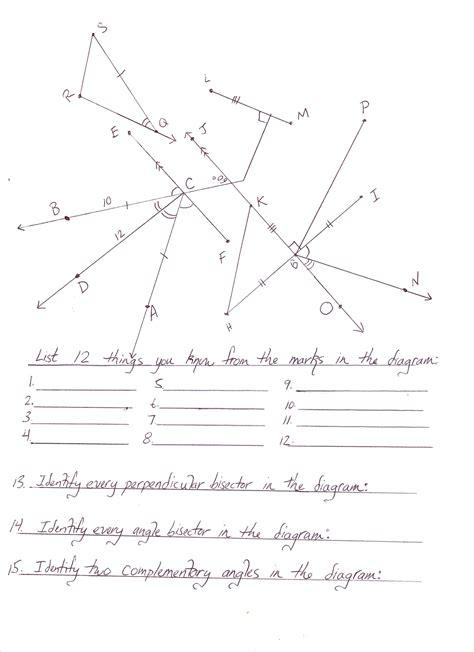 Geometry Worksheet Pdf by Geometry Mrmillermath