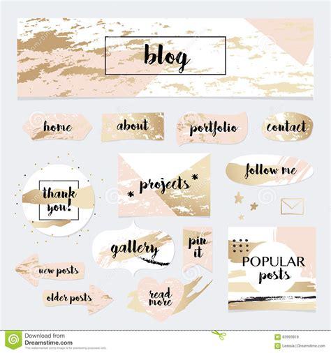 design elements blog a set of blog design elements kit frames dividers