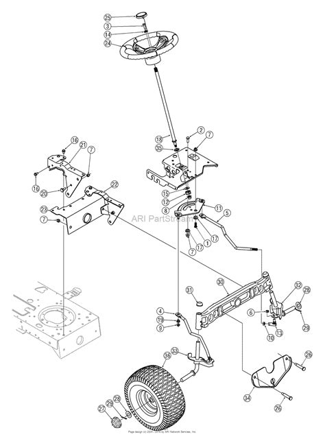 steering parts diagram mtd 13al606g730 2005 parts diagram for steering assembly